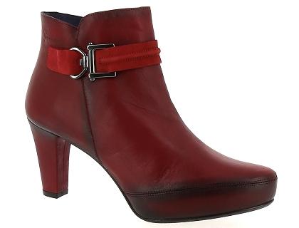 bottines dorking rouge