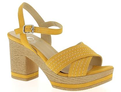cb778501294baa Les sandales et nu-pieds gadea 40665 seiko jaune - chaussures femme ...