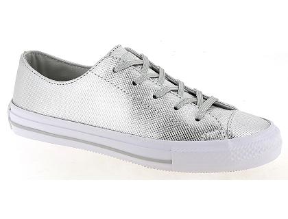 Les baskets basses converse star ctas ox argent chaussures