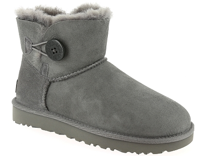 boots et bottines ugg mini bailey button ii gris