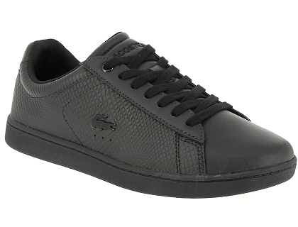 b354342ec3 Les baskets basses lacoste carnaby evo 317 3 noir - chaussures femme ...