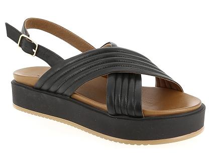 82f1b9925791 Les sandales et nu-pieds inuovo 8714 noir - chaussures femme 43.00 ...