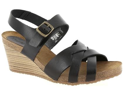4c1da8f59250 Les sandales et nu-pieds kickers spicy noir - chaussures femme 89.00 ...
