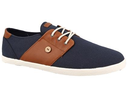 2d720687893f Les baskets basses faguo cypress cotton cuir bleu - chaussures homme ...
