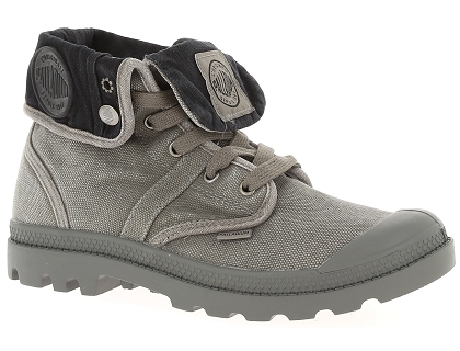 chaussures a lacets palladium baggy w h gris