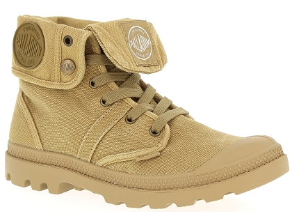 chaussures a lacets palladium baggy w h beige