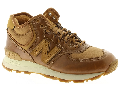 baskets montantes new balance wh574 marron
