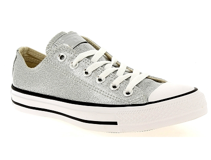 baskets basses converse star ctas ox argent