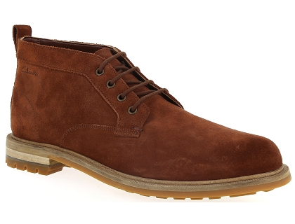 chaussures a lacets clarks foxwell mid marron