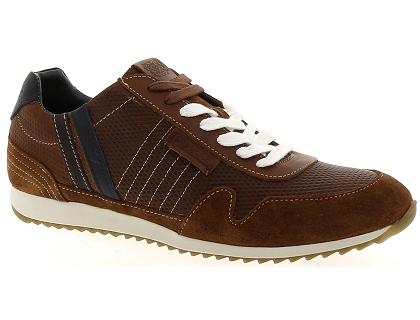 16bdac33e2 Les baskets basses patrick 1892 centerline marron - chaussures homme ...