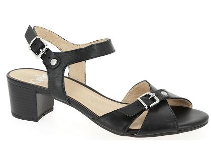 d655990506102f Les sandales et nu-pieds caprice 28209 26 noir - chaussures femme ...
