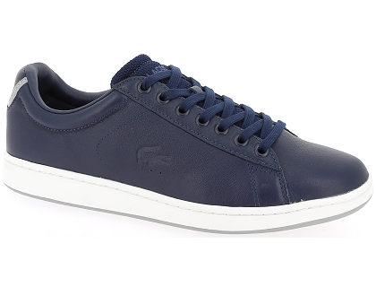 0672988f036 Les baskets basses lacoste carnaby evo 117 bleu - chaussures homme ...