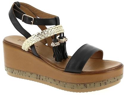 00 Sandales Chaussures Inuovo Noir Femme Les 109 Et Nu Pieds 7388 kZiPuX