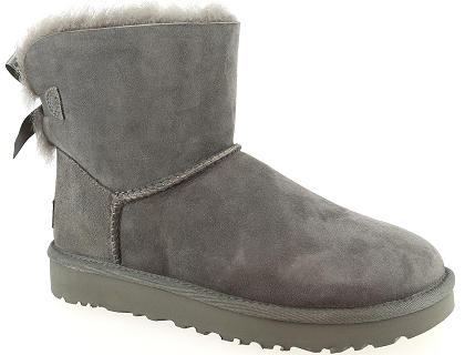 boots et bottines ugg mini bailey bow ii gris