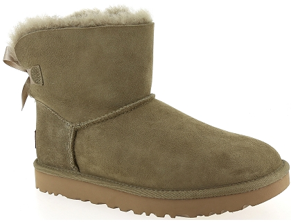 boots et bottines ugg mini bailey bow ii vert