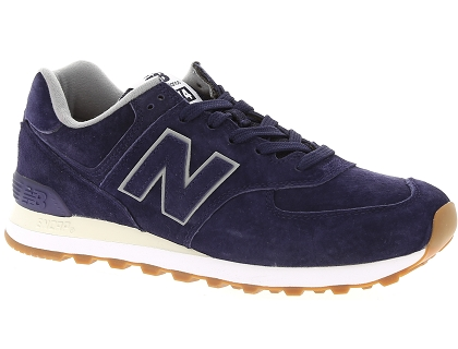 baskets montantes new balance ml574 bleu