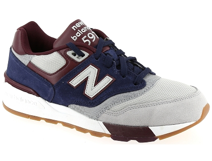 baskets montantes new balance ml597 bleu
