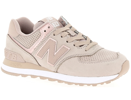 baskets basses new balance wl574 beige