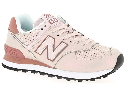 baskets basses new balance wl574 rose