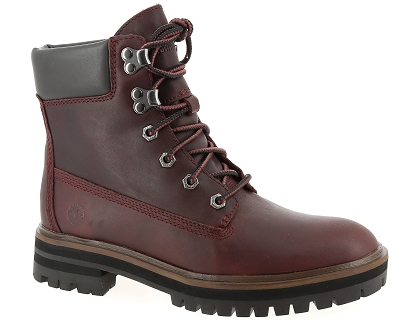 boots et bottines timberland london square rouge