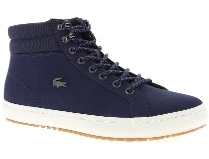 df78125e9d2 Les baskets montantes lacoste straightset bleu - chaussures homme ...
