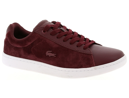 baskets basses lacoste carnaby evo 318 5 rouge