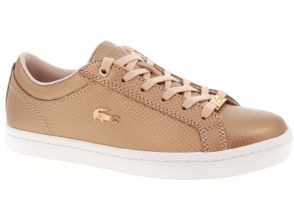 baskets basses lacoste straightset 318 2 rose