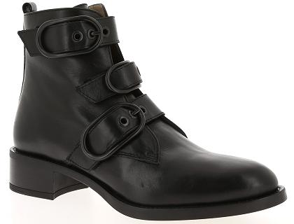 Les boots et bottines unisa edwin noir chaussures femme