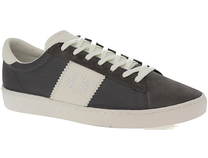 baskets basses fred perry spencer gris
