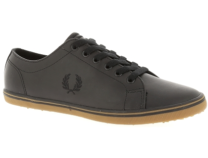 Fred Perry Baskets Chaussures Basses Homme Noir Les Kingston Yf6vby7g