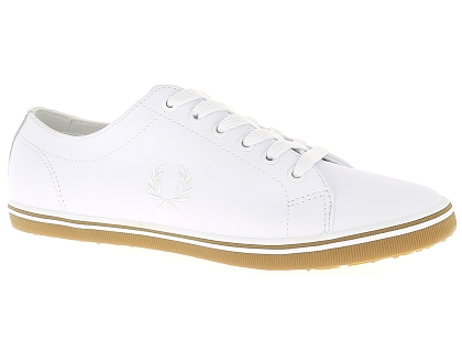 baskets basses fred perry kingston blanc
