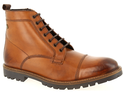 boots et bottines base london brigade marron
