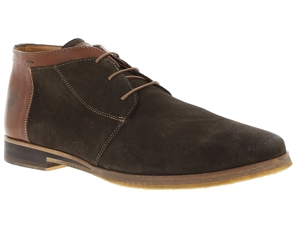 chaussures a lacets kost albe76 marron