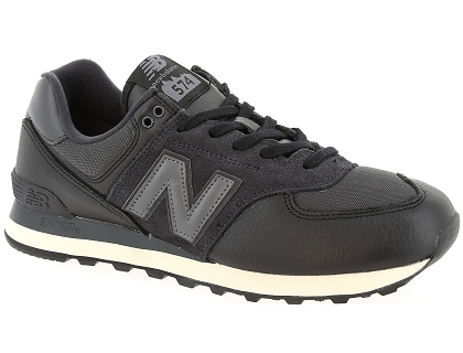 baskets basses new balance ml574 noir