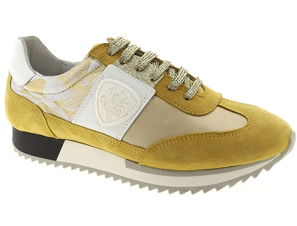 536cce040eb5a9 Les baskets basses philippe morvan rocky jaune - chaussures femme ...