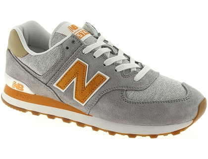 baskets basses new balance ml574 gris