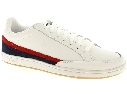 baskets basses le coq sportif court clay blanc