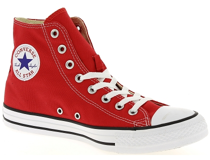 baskets montantes converse chuck taylor all star rouge