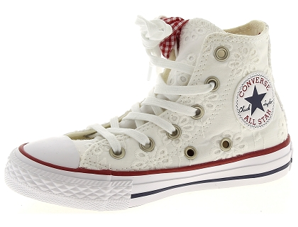 baskets montantes converse chuck taylor all star blanc