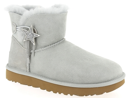 boots et bottines ugg mini bailey star gris