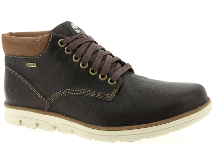 chaussures a lacets timberland bradstreet chukka leather gtx marron