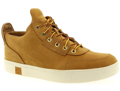 chaussures a lacets timberland amherst high top chukka wheat orange